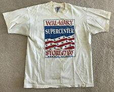 Vtg Wal-Mart Supercenter T-Shirt Men's Large L Vintage Fruit of the Loom IL USA