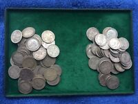KING GEORGE V 1914 & 1918 SOLID SILVER THREE PENCE PIECES 3d's WORLD WAR ONE