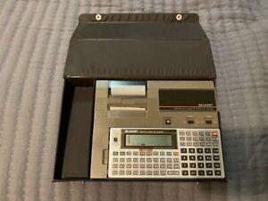 VINTAGE WORKING SHARP SCIENTIFIC COMPUTER EL-5500 III + CE-129P PRINTER CASSETTE