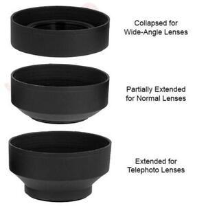 52mm Soft Rubber Collapsible Lens Hood For Nikon 50mm f/1.8D, 50mm f/1.4D Lenses