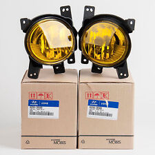 Genuine OEM Hyundai Santa Fe Fog Light Set (L&R) — Sprayed w/ Vans Yellow Spray