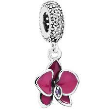 PANDORA Charm Element 791554 EN69 Orchidee Silber Bead