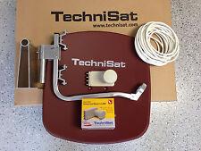 Original TechniSat Digidish45 mit TechniSat Quatro LNB ziegelrot neu