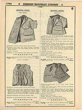 1935 ADVERT 3 PG Drybak Hunting Pants Clothes Cap Hat Coat Jacket Red Head Vest