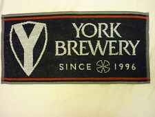 NEW YORK BREWERY REAL ALE BEER BAR TOWEL / RUNNER HOME BAR MANCAVE RARE,