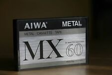 Rare New AIWA MX 60 type IV metal bias audio cassette sealed Japan MINT!