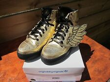 ADIDAS Js Wings V20692 UK10.5 10 1/2 stranezza in pelliccia sintetica in cuoio 2011 Deadstock