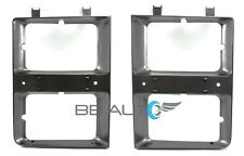NEW DUAL HEADLIGHT BEZELS TRIM SET FOR 83-84 CHEVY 1500 PICKUP BLAZER SUBURBAN