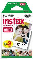 Fujifilm fuji instax mini colour instant film twin pack 2 x 10 Shots (UK Stock)