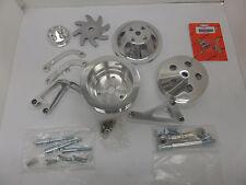 SB Chevy  Complete LWP Aluminum Pulleys /  Brackets & Bolt Kit