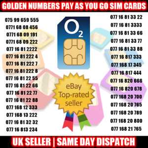 Gold Easy Mobile Number VIP SIM Card UK - Easy to Remember Numbers LOT