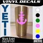 YETI Tumbler Circle Personalized Initials Monogram Anchor Vinyl Decal/Sticker