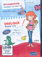 CD-ROM + Lernspaß mit Hexe Lilli + Englisch 1.+2. Klasse + Lernen + Spielen +Win