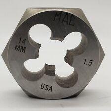 MAC TOOLS M14 X 1.5 Metric Hex Rethreading Die 14MM Carbon Steel USA Made