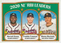 Freddie Freeman 2021 Topps Heritage RBI Leaders #87 Atlanta Braves