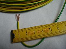 5 m fil vert jaune  cable électrique 1 x 0,75 mm2 souple multibrins