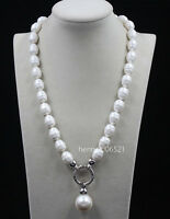 """2018 June Pearl South Sea Baroque White Shell Pearl Necklace 20"""""""