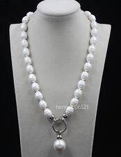 2017 June Pearl South Sea Baroque White Shell Pearl Necklace 20""