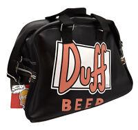 Borsa Borsone Duff Beer The Simpson Uomo Nero Bag Duffle Man Black