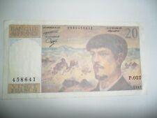BANCONOTA 20 FRANCHI FRANCIA 1987 SPL