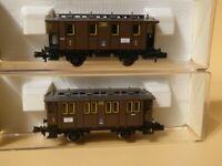 Fleischmann 8822 + 8824 N 2 x Personenwagen der KPEV Epoche 1 in OVP Sonderserie
