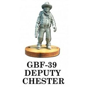 GBF- 39 DEPUTY CHESTER - KNUCKLEDUSTER MINIATURES - WILD WEST - 28MM
