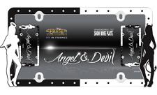Black/White Girl Angel & Devil 1 License Plate Frame Car/Truck Tag Cover/Holder