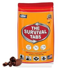 Emergency Hurricane Relieved Food Survival Tabs 24 Vitality Chocolate Flavor