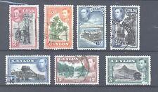 Ceylon, 1938 King George VI selection, Good/Fine Used, scanned both sides