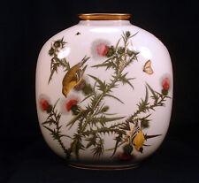 Large John James Audubon Birds of America Goldfinch Pillow Vase-Rosenthal China