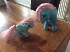 Vintage G1 My Little Pony MUMMY BOWTIE (1982) and BABY BOWTIE (1984)