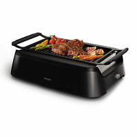 Philips Avance Collection Electric Indoor Smokeless BBQ Grill - Black