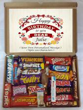 Personalised Birthday Gift 20 Luxury Chocolate Bars in Selection Box Hamper