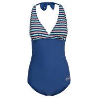 Trespass Sassy Womens Beach Swimwear Halterneck Swimming Costume Stripe Swimsuit