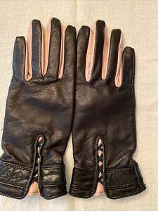 Harley Davidson Black and Pink Leather Gloves - XS - NWOT
