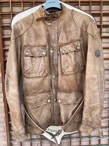 BELSTAFF PANTHER 1966 Thick Leather Antique Brown Cuero Malenotti Era XL
