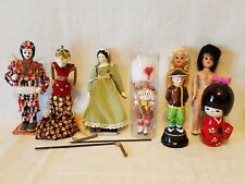 Dolls Porcelain, Open & Shut Eyes, Cultures & Ethnicities - mixed lot of 8