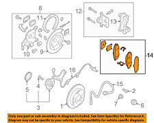 MAZDA OEM 04-06 MPV Brake-Rear-Disc Brake Pads LEY42648ZA