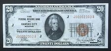 $20 SERIES 1929 NATIONAL CURRENCY/ KANSAS CITY, MO/ FANCY LOW SERIAL NUMBER
