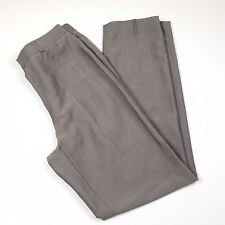 Banana Republic Pants Size 8 Gray Wool Mohair Blend Straight Leg Made in Italy