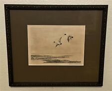 Original Roland Clark Signed Sporting Art Etching - The Ice Hole, 1927