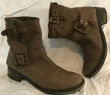 Next Brown Ankle Leather Lovely Boots Size 6.5 (769vv)