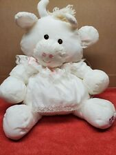 Vintage Fisher Price Puffalump White Cow Pink Heart Dress 8001