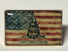 DON'T TREAD ON ME VINTAGE AMERICAN FLAG LAPEL PIN HAT TAC NEW