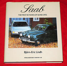 SAAB THE FIRST 40 YEARS OF SAAB CARS, LINDH, NEW 1987 HARDBOUND BOOK