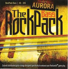 Aurora RockPack - Rocksmith Compatible Coloured Bass Guitar Strings 45-105