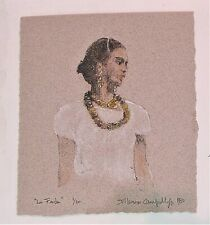 FRIDA KAHLO -1980 Signed limited edition litho by WHO's WHO IN ART listed artist
