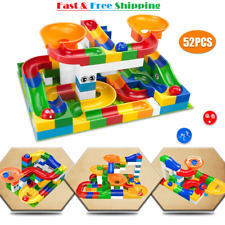 52 Pcs Construction Marble Run Maze Ball Building Block Educational Children Toy