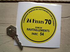 LE MANS 24 Heures 1970 CAR Park Permit Window STICKER Steve McQueen CIRCUIT Hour