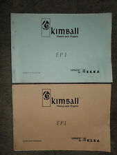 Kimball ELKA EP1 Electronic Organ Schematic Diagram Manual & Parts Catalog EP 1